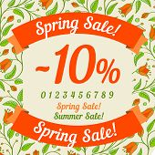 Spring sale design (or summer)