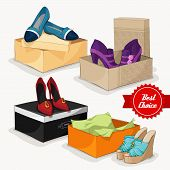stock photo of ankle shoes  - Fashion collection of classic woman - JPG