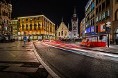 Old Town Hall And Marienplatz In The Night, Munich, Bavaria, Germany