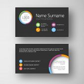 Modern simple dark business card template with some placeholder