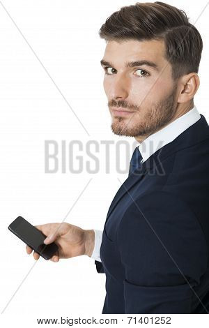 Stylish Businessman Chatting On His Mobile
