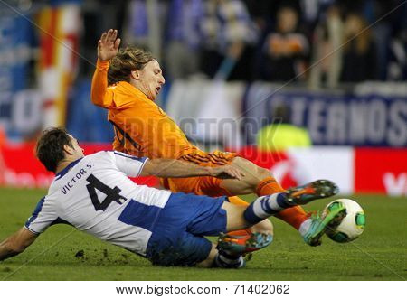 BARCELONA - JAN, 21: Luka Modric of Real Madrid during the Spanish Kings Cup match between Espanyol and Real Madrid at the Estadi Cornella on January 21, 2014 in Barcelona, Spain