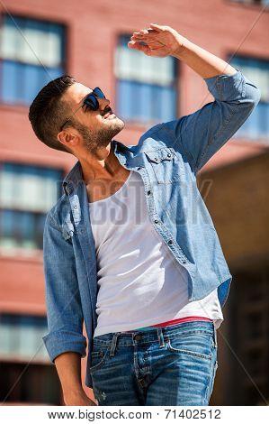 Handsome Cool Man Outdoor