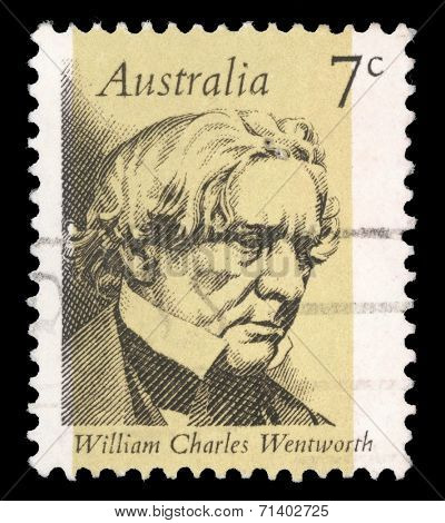 AUSTRALIA - CIRCA 1973: stamp printed by Australia, shows William Charles Wentworth, circa 1973