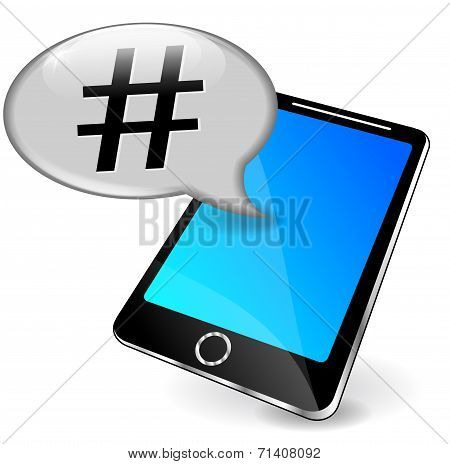 Phone With Hashtag