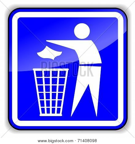 Illustration Of Throw Away Sign