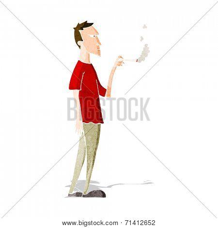 cartoon annoyed smoker