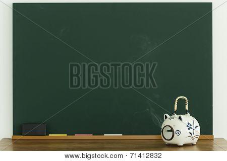 A blackboard and sundries