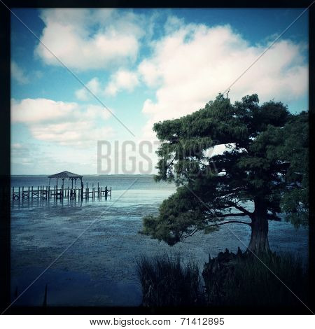 Instagram filtered image of the Currituck Sound, Outer Banks, North Carolina