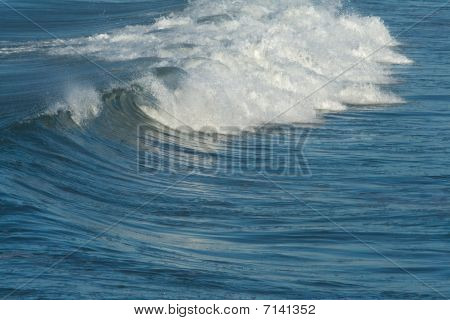 Ocean Waves And Surf.