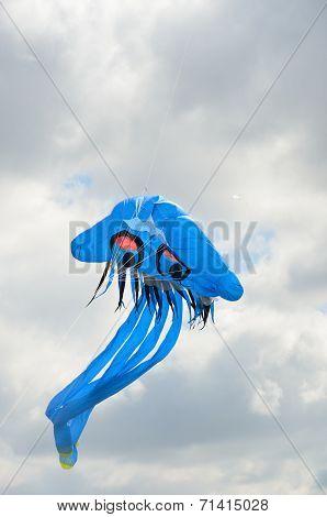 Blue Jellyfish novelty kite