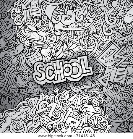 hand drawn school sketch background