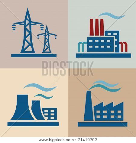 Power Plan, Electrisity Icons Set