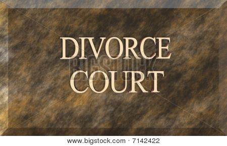 Divorce Court Title On Brown Marble Plaque
