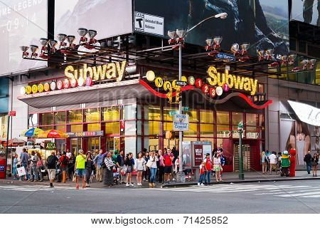 Theatre District Subway Stop - New York City