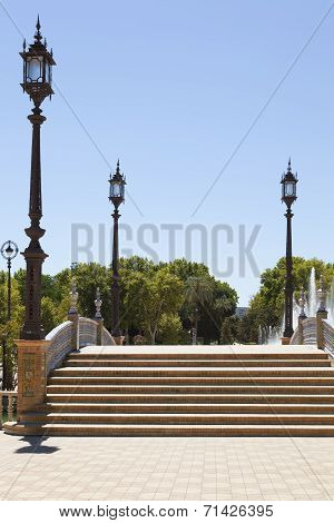 Stairs In Spain Square