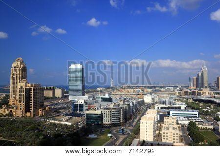 Dubai Aerial View Showing Al Barsha And Jumeirah Area