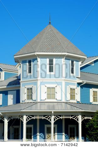 Blue Victorian House