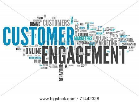 Word Cloud Customer Engagement