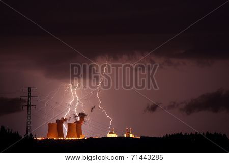 Great storm at nuclear power plants.