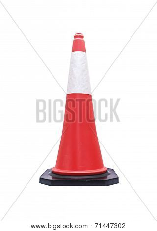 Traffic Cone - Barricade Warning Cones On White Background, Clipping Path