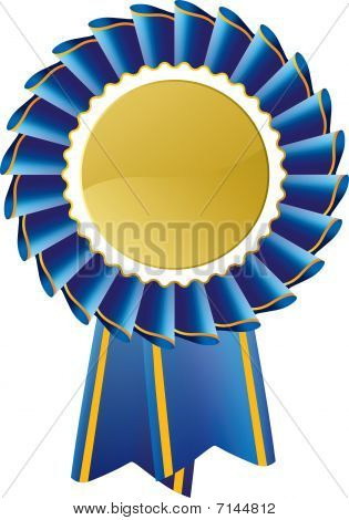 Blue Award Rosette Seal