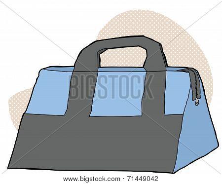 Blue And Gray Bag