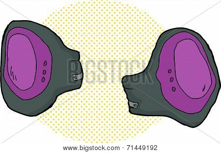 Purple Knee Pads