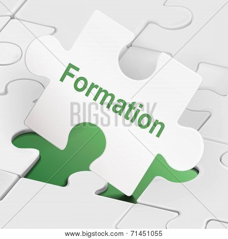 Formation Word On White Puzzle Pieces