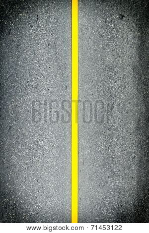 Yellow Line On Road