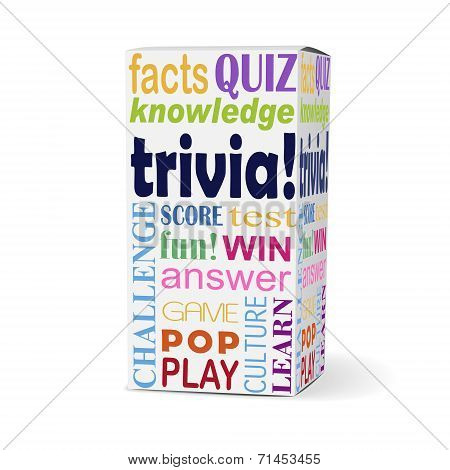 Trivia Word On Product Box