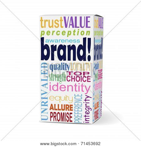 Brand Word On Product Box