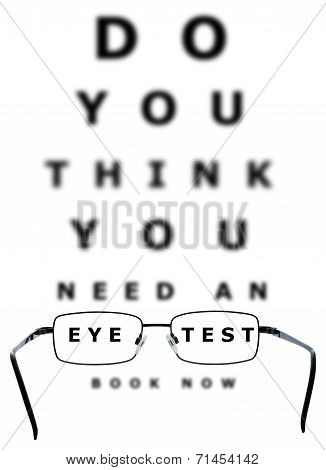 Eye Test Chart And Glasses