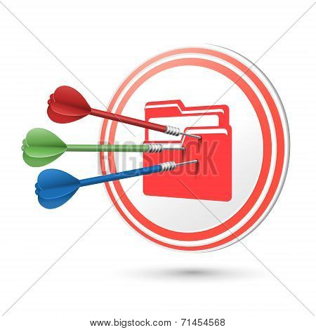 File Icon Target With Darts Hitting On It