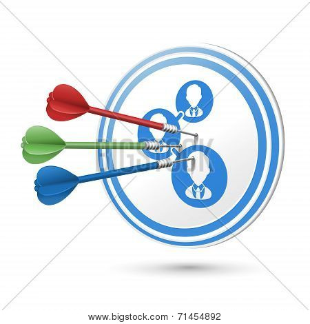 Customer Satisfaction Concept Target With Darts Hitting On It
