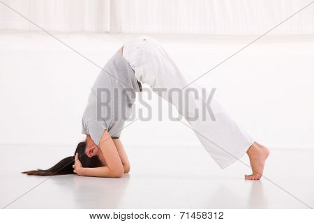 Fitness Woman In The Bridge Position