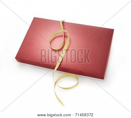 Red Box With Golden Ribbon
