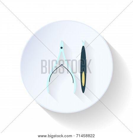 Manicure Tools Flat Icon