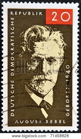 GERMANY - CIRCA 1979: Stamp printed in Germany shows August Ferdinand Bebel