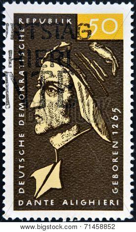 GERMANY - CIRCA 1979: a stamp printed in Germany shows Dante Alighieri Italian Poet circa 1979