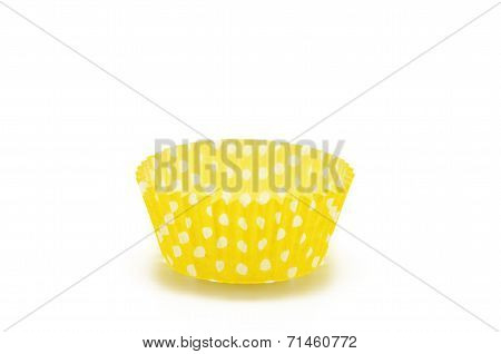 Paper case yellow for cupcakes