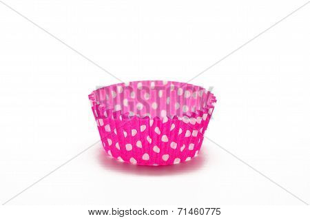 Paper case pink for cupcakes