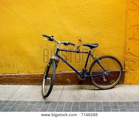 Bicycle At A Wall