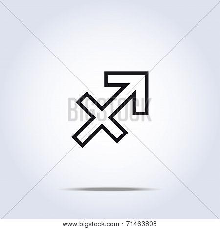 Simplistic Sagittarius Zodiac Star Sign