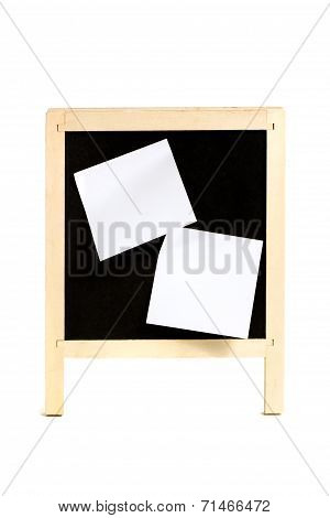 School Board With Adhered Bits Of Paper