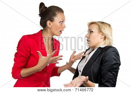 Chief woman yelling at a subordinate