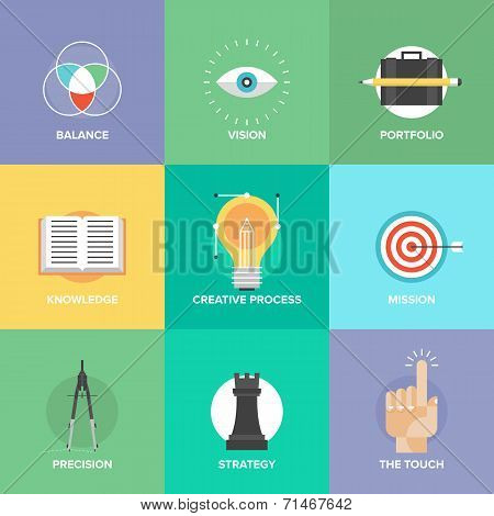 Creative Design Elements Flat Icons
