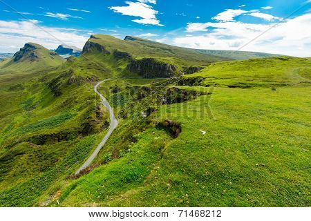 Quiraing mountains, Isle of Skye