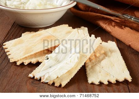 Flatbread Crackers And Cheese