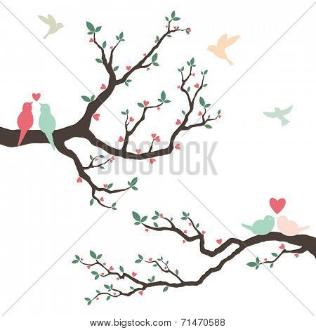 Wedding Invitation with love bird